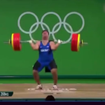 Weightlifter David Katoutau of the Republic of Kiribati failed the competition but danced his way out. This is how the Olympic Games should be, with a true spirit of sportsmanship.