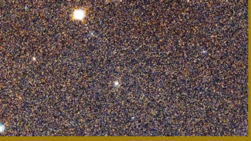 A zoom out of the sharpest view of the Andromeda Galaxy ever, showing more than 100 million stars