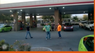 Dude tries to start a fight and wins a stupid prize.