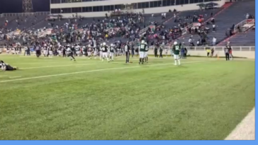 The scene after 4 people were shot at a high school football game in Alabama.